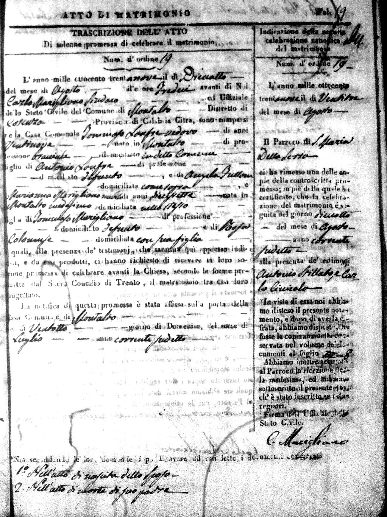 Matrimonio Pasquale Romano : The cosenza exchange montalto uffugo matrimonio