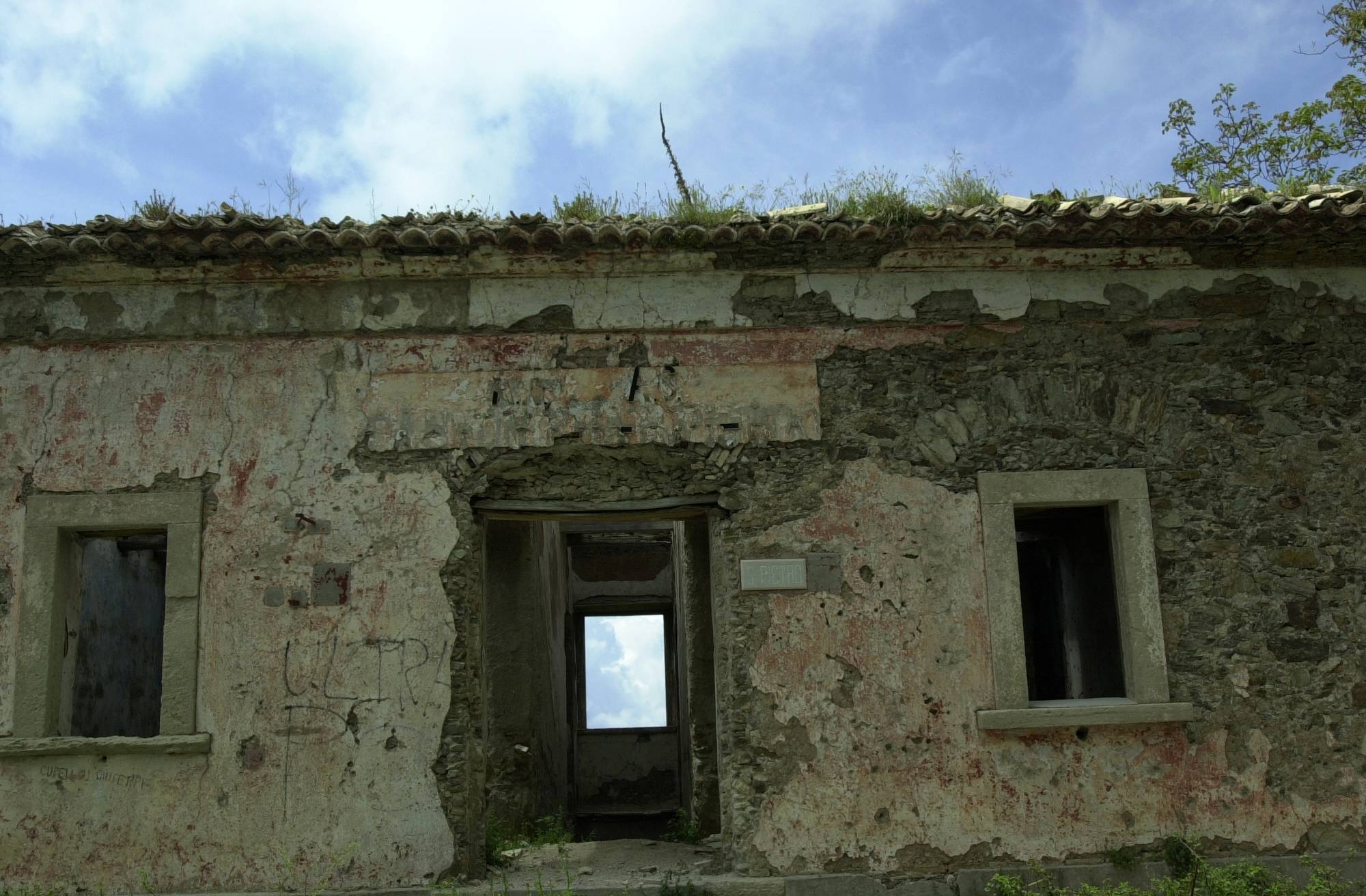 Ruins of house